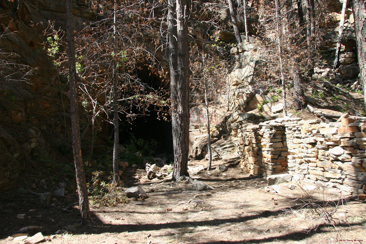 The entrance to the Railroad Tunnel - Photo by Terry Wright on Arizona Hiking Gallery.com